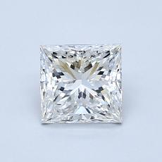 0.95-Carat Princess Diamond Very Good H VVS1