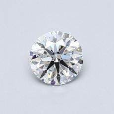 0.54-Carat Round Diamond Ideal D VVS1