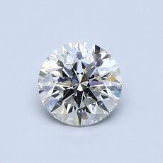0,68-Carat Round Diamond Ideal I SI2