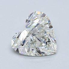 0.90-Carat Heart Diamond Very Good H SI1