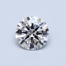 推薦鑽石 #4: 0.61 克拉圓形切割鑽石