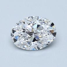 0.90-Carat Oval Diamond Very Good D SI2