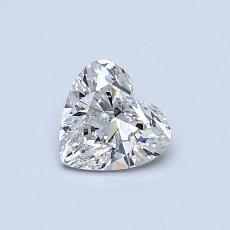 Pierre recommandée n°2: Diamant taille cœur 0,52carat