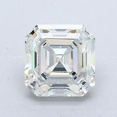 Piedra recomendada 3: Diamante de talla Asscher de 2.04 quilates