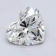 1,51-Carat Heart Diamond Very Good H VS2