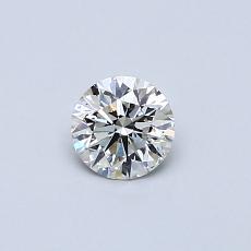所選擇的鑽石: 0.32 克拉圓形切割鑽石