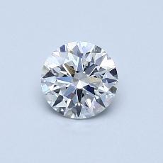 0.54 Carat 圆形 Diamond 理想 E SI1