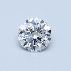0.54-Carat Round Diamond Ideal E SI1