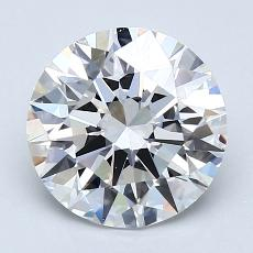 2.09-Carat Round Diamond Ideal G VS1