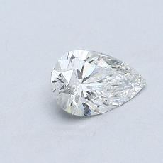 Piedra recomendada 3: Diamante en forma de pera de0.38 quilates