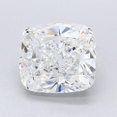 2.01-Carat Cushion Diamond Very Good F VVS1