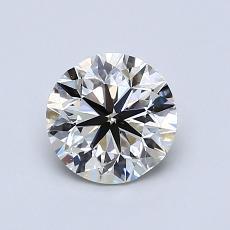 0.90 Carat 圓形 Diamond 非常好 K VS1