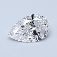 0,71-Carat Pear Diamond Very Good D VS1