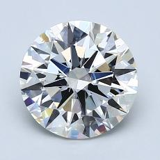 2.00-Carat Round Diamond Ideal H VS2