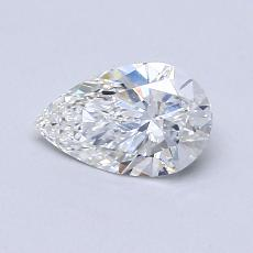 0.53-Carat Pear Diamond Very Good F VS2