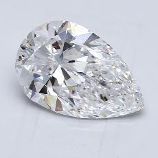 2.01 Carat 梨形 Diamond 非常好 D VS1