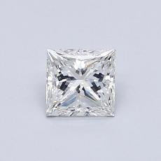 0.54-Carat Princess Diamond Very Good G SI1