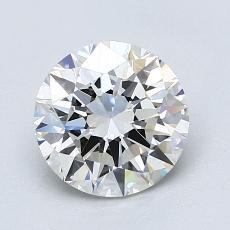 1.50-Carat Round Diamond Ideal H VVS1