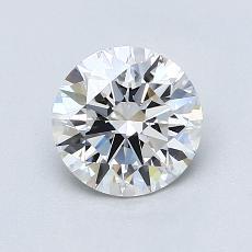 1.02 Carat ラウンド Diamond アイデアル E VVS2