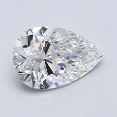1.01-Carat Pear Diamond Very Good F VS2