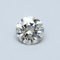 0.51-Carat Round Diamond Ideal K SI2