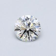 0.54-Carat Round Diamond Ideal E VVS2