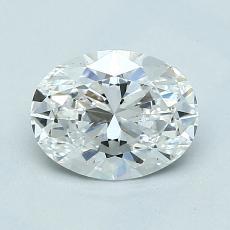1.01 Carat 橢圓形 Diamond 非常好 E VS1