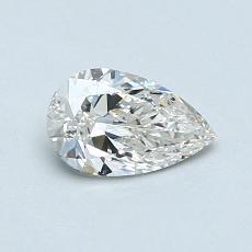 0.50-Carat Pear Diamond Very Good I VVS2