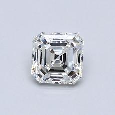 Piedra recomendada 2: Diamante de talla Asscher de 0.50 quilates
