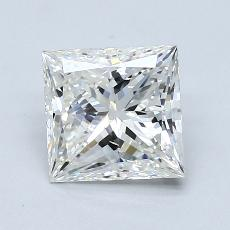 1,51-Carat Princess Diamond Very Good H SI1