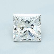 Pierre recommandée n°1: Diamant taille princesse 0,91 carats