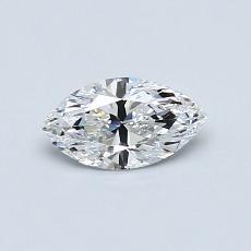 0.42-Carat Marquise Diamond Very Good D VVS1