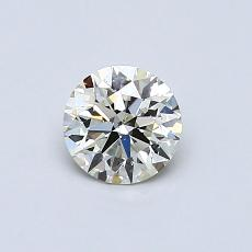 0.53 Carat 圓形 Diamond 理想 K SI1