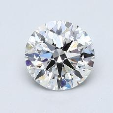 0.91-Carat Round Diamond Ideal F SI1