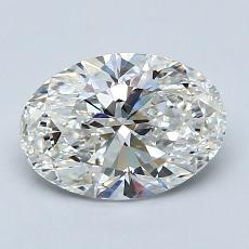 1.50 Carat 椭圆形 Diamond 非常好 G VVS1
