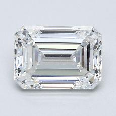 2.02-Carat Emerald Diamond Very Good E VVS1