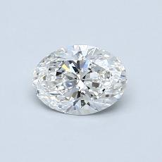 0.51 Carat 椭圆形 Diamond 非常好 F VVS2