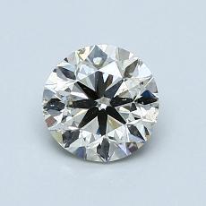 0.90 Carat Redondo Diamond Muy buena K SI2