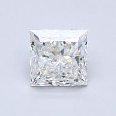 0,90-Carat Princess Diamond Very Good H VVS1