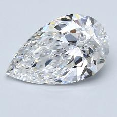 1.56-Carat Pear Diamond Very Good D IF