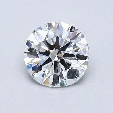 0,73-Carat Round Diamond Ideal E VS1