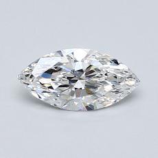 0.55-Carat Marquise Diamond Very Good E SI1