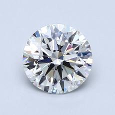 1,02-Carat Round Diamond Ideal F VVS2