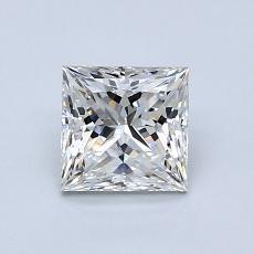 1.00 Carat 公主方形 Diamond 非常好 G VVS2