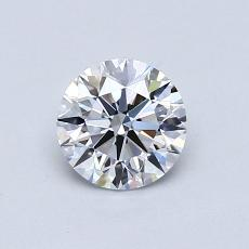 0.70-Carat Round Diamond Ideal D IF