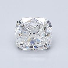 1.00 Carat 垫形 Diamond 非常好 E VVS2