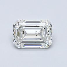 0.91-Carat Emerald Diamond Very Good H SI1
