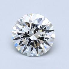1.04-Carat Round Diamond Ideal H IF