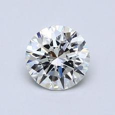 0,71-Carat Round Diamond Ideal H VVS1