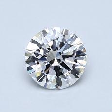 0.76 Carat 圓形 Diamond 理想 E VS2